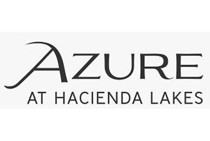 Azure at Hacienda Lakes Logo | Woods & Wetlands